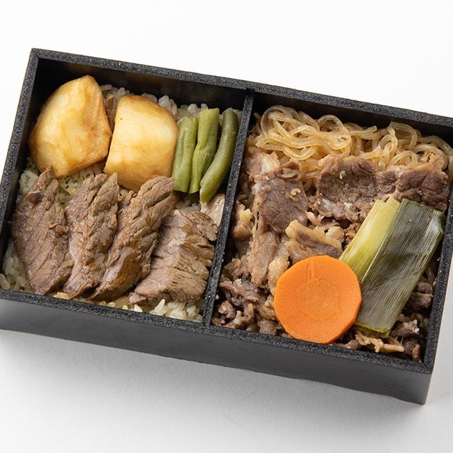 神戸のすきやきとステーキ弁当